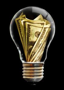 The light bulb and dollar