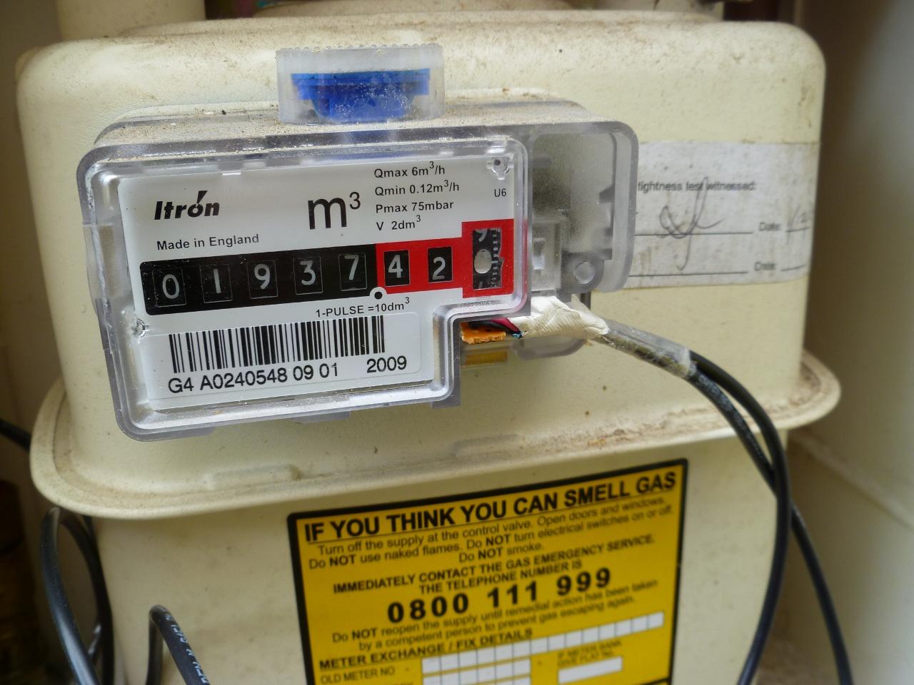 come spostare o rimuovere il contatore del gas