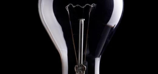 Photo of light bulb on black background